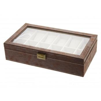 Horlogebox bruin 12st