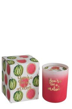 Watermeloen kaars klein
